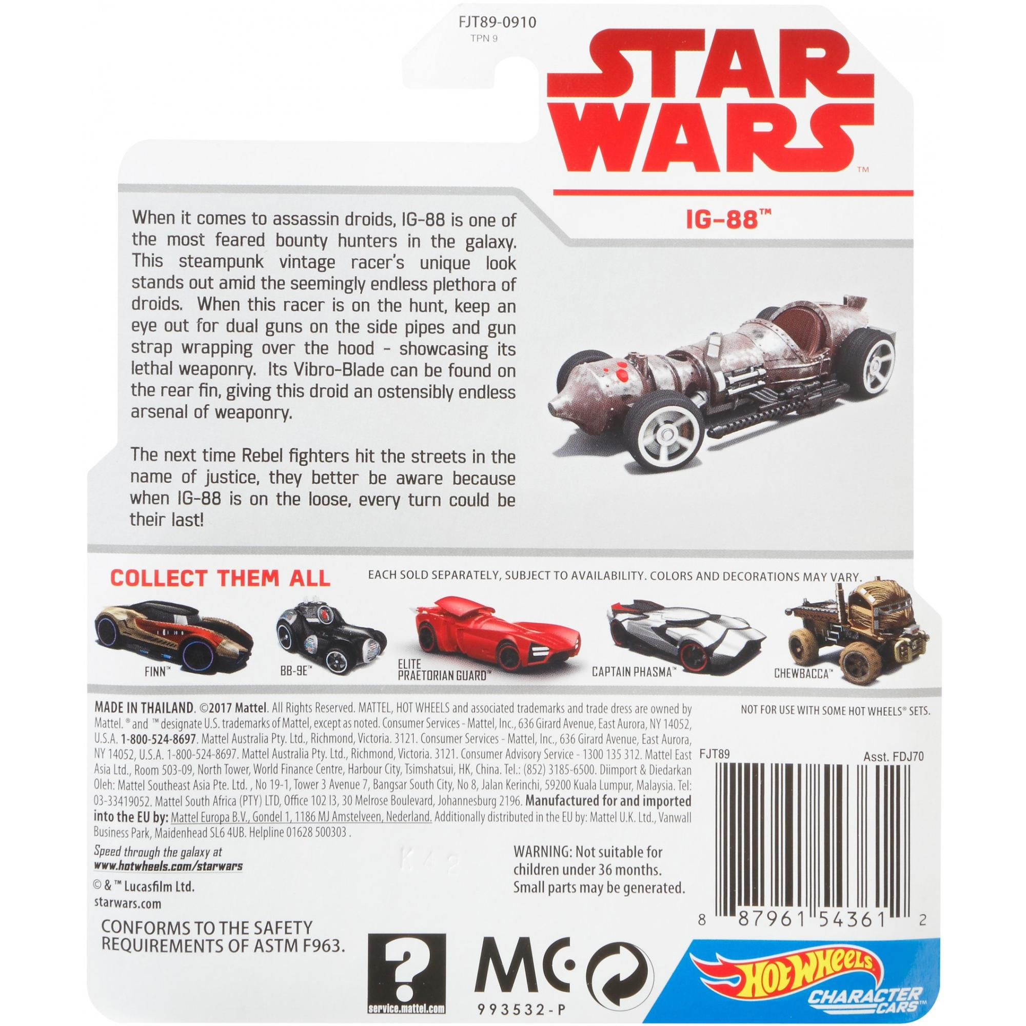 SW IG-88 HW Character Car Toy 2