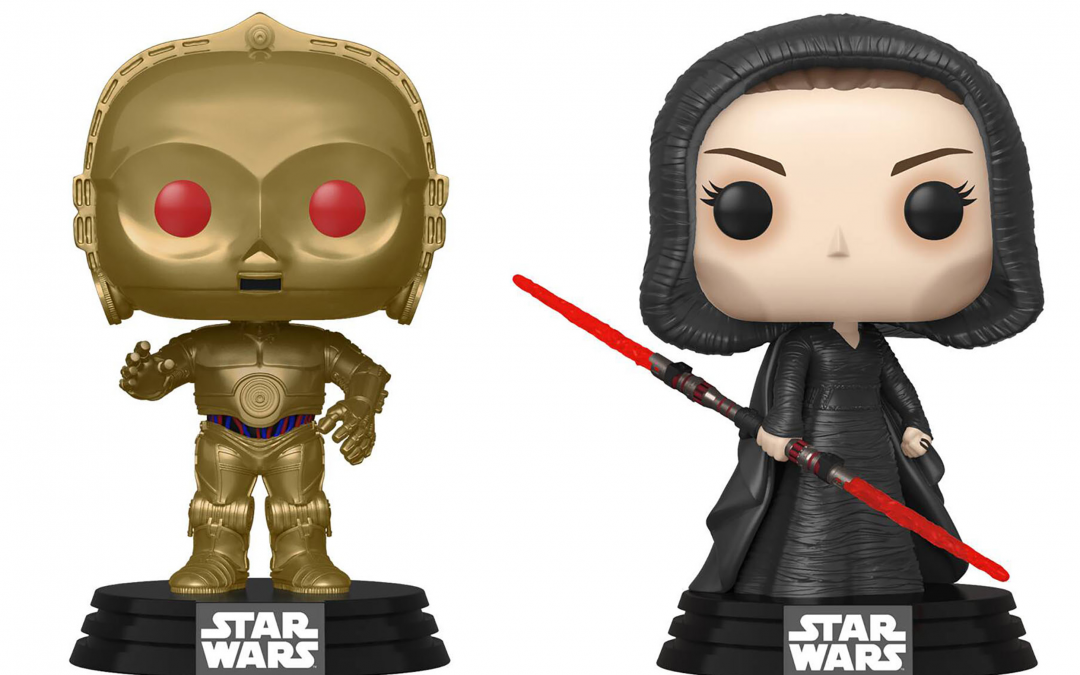 New Rise of Skywalker Dark Rey and C-3PO (Red Eyes) Bobble Head Toy 2-Pack available!