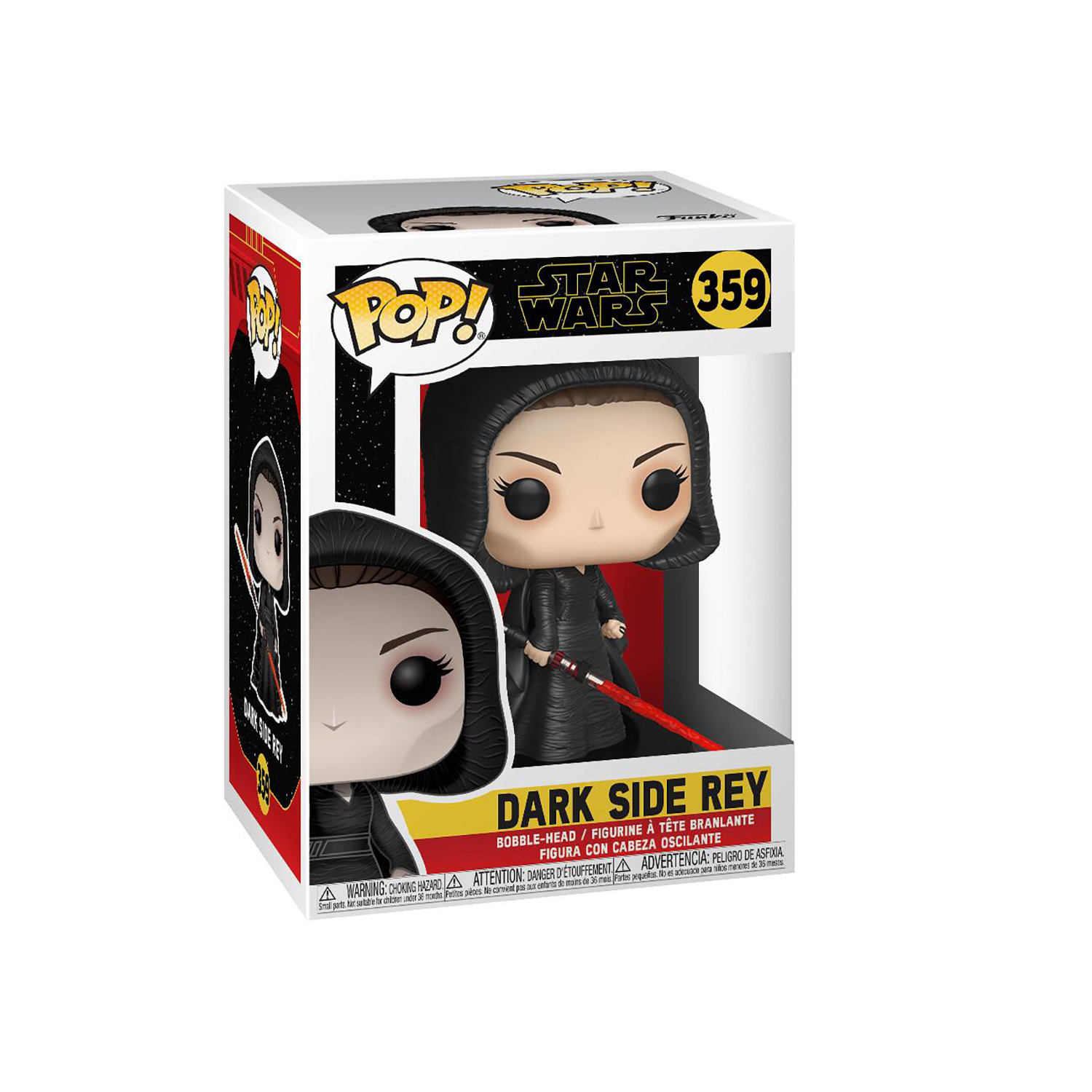 TROS Dark Rey and C-3PO (Red Eyes) Bobble Head Toy 2-Pack 2