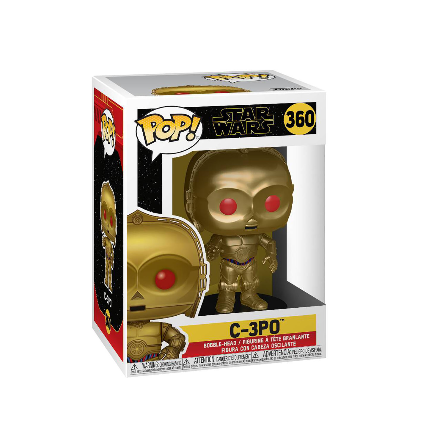 TROS Dark Rey and C-3PO (Red Eyes) Bobble Head Toy 2-Pack 4