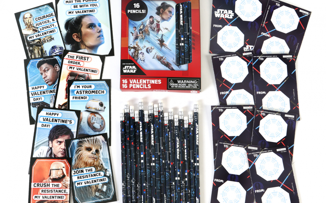 New Rise of Skywalker Valentines with Pencils Set available!