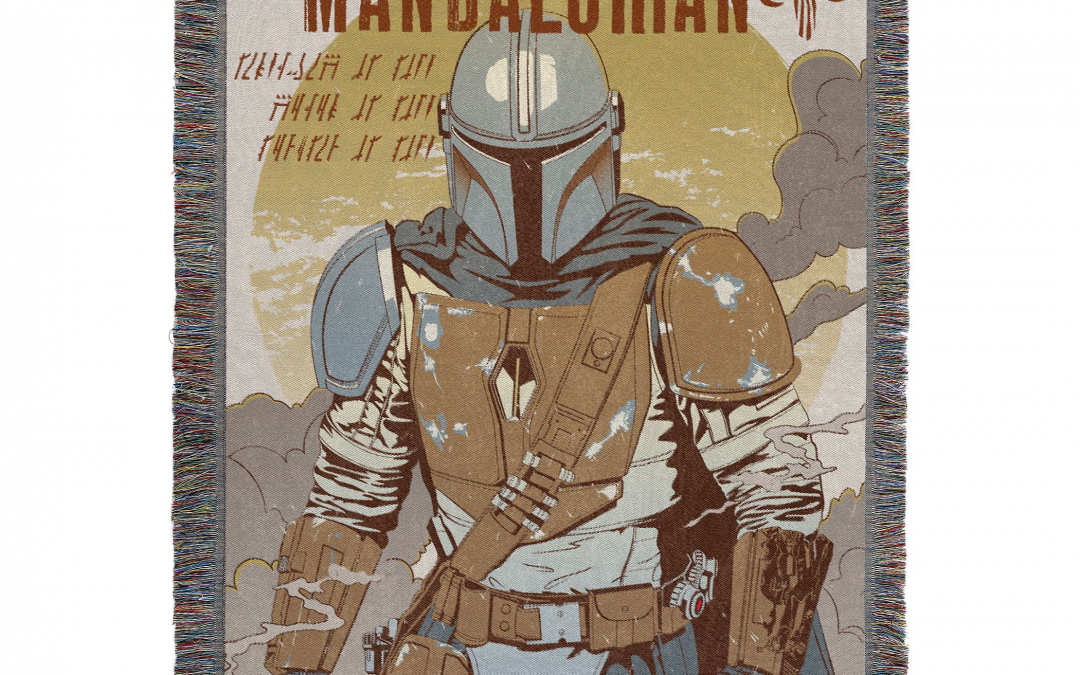 New The Mandalorian Woven Tapestry Throw Blanket available!