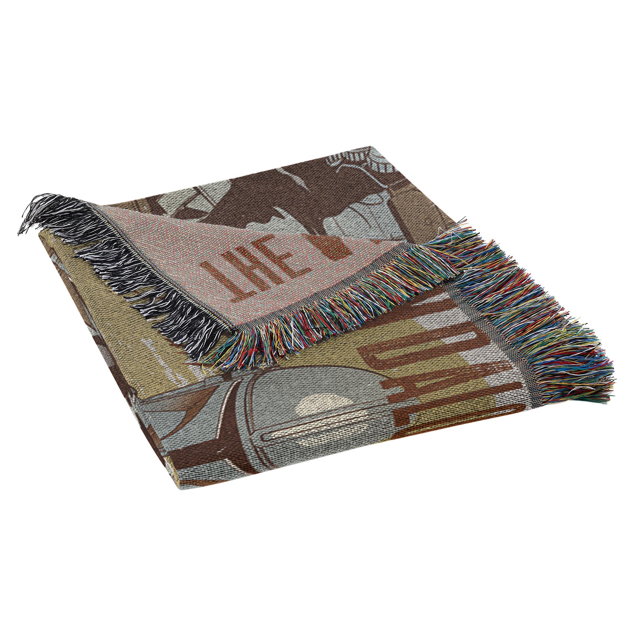 TM Woven Tapestry Throw Blanket 3