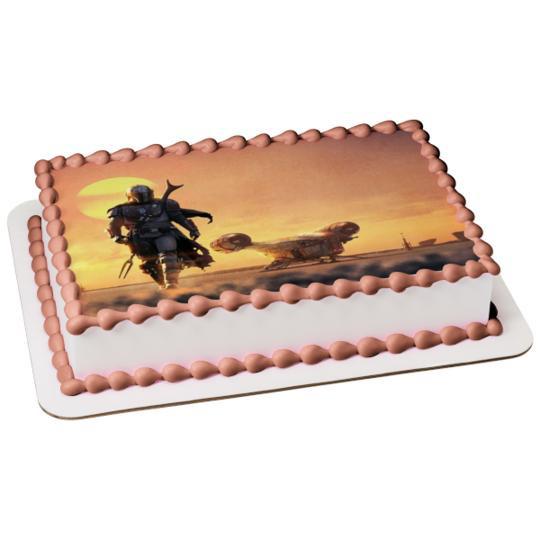 TM Bounty Hunter Sunset Edible Cake Topper Image 2