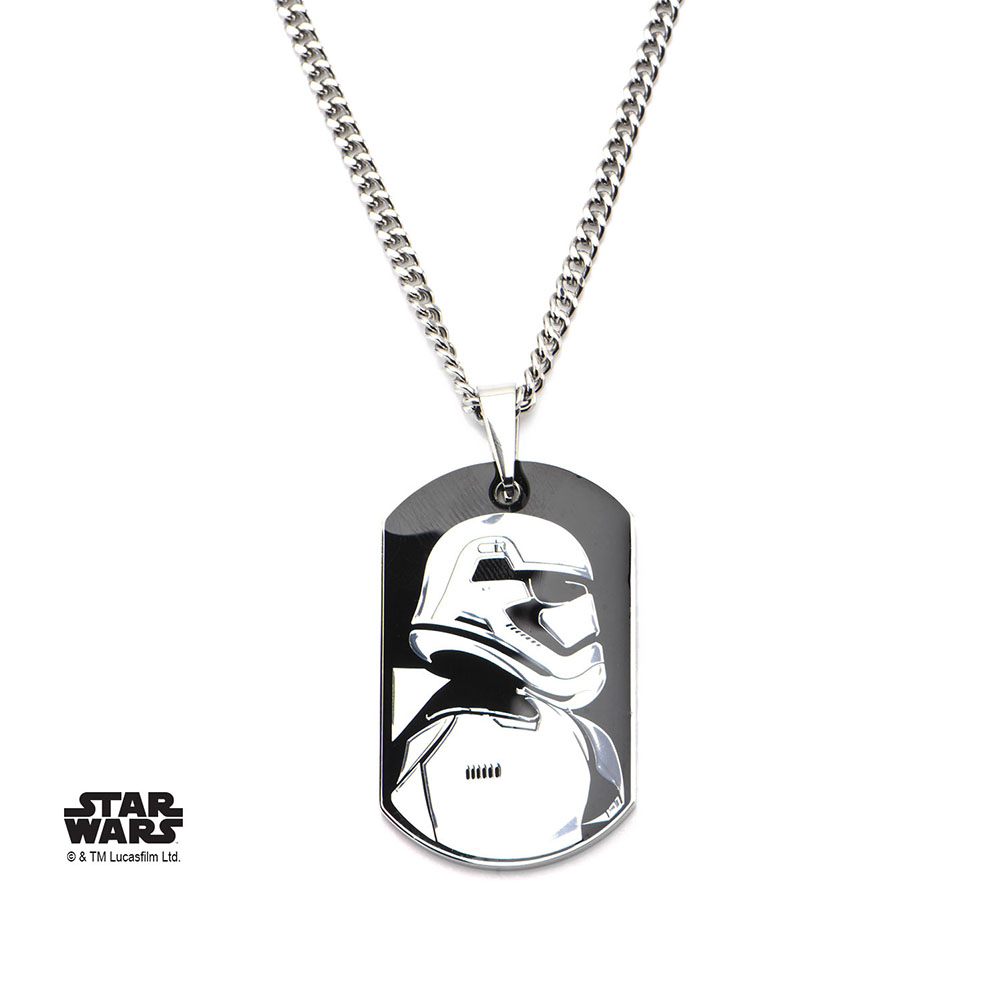 TFA First Order Stormtrooper Charm Necklace