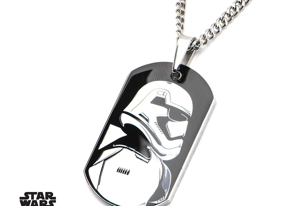New Force Awakens First Order Stormtrooper Charm Necklace available!