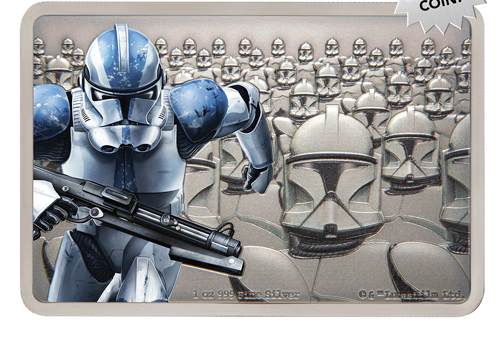 New Star Wars Clone Trooper Silver Coin available for pre-order!