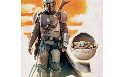 New The Mandalorian Mando And The Child Walking Wall Poster in stock!