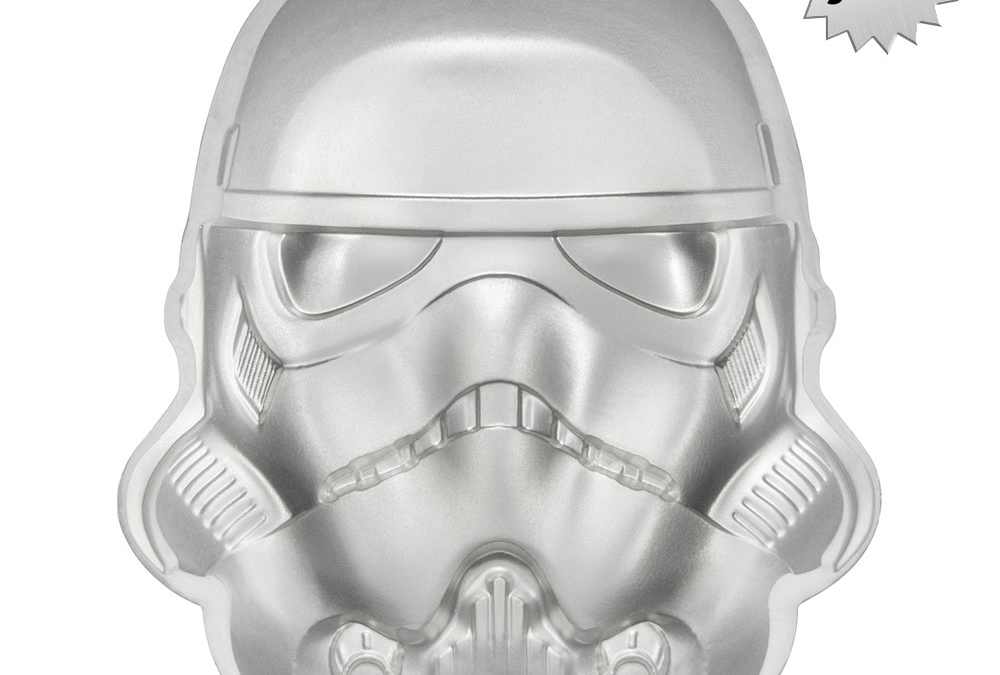 New Star Wars Stormtrooper Helmet Silver Coin available for pre-order!