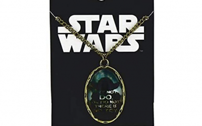 """New Star Wars Yoda """"There is no try"""" Cameo Necklace available!"""