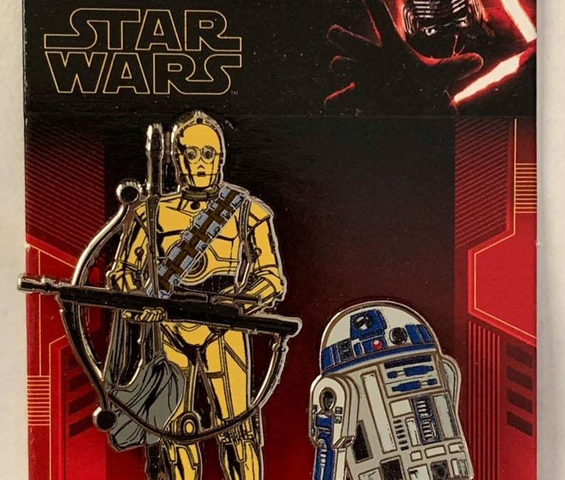 New Rise of Skywalker C-3PO and R2-D2 2-Pin Set available now!