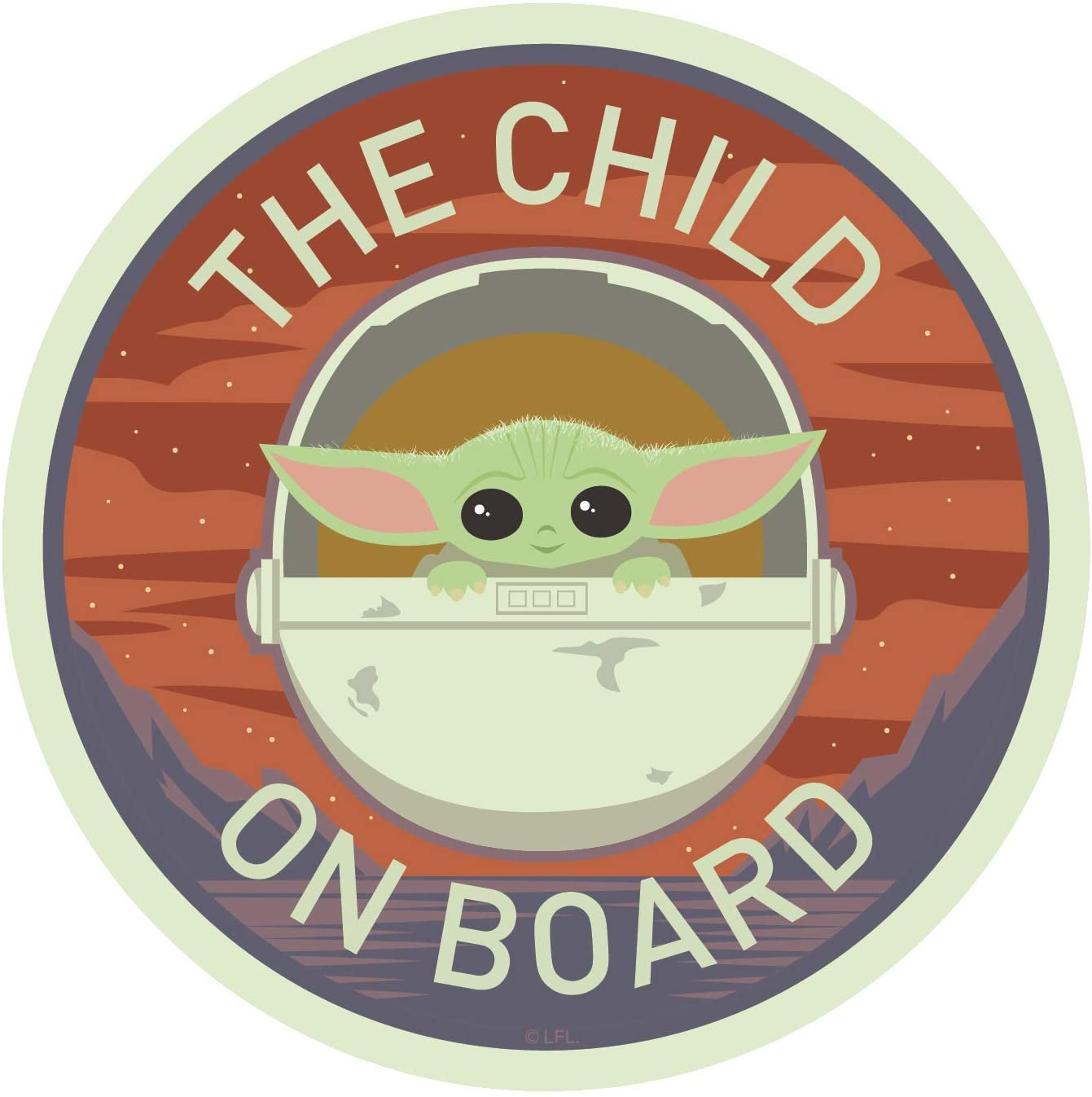 TM The Child Chroma Graphics Decal 2