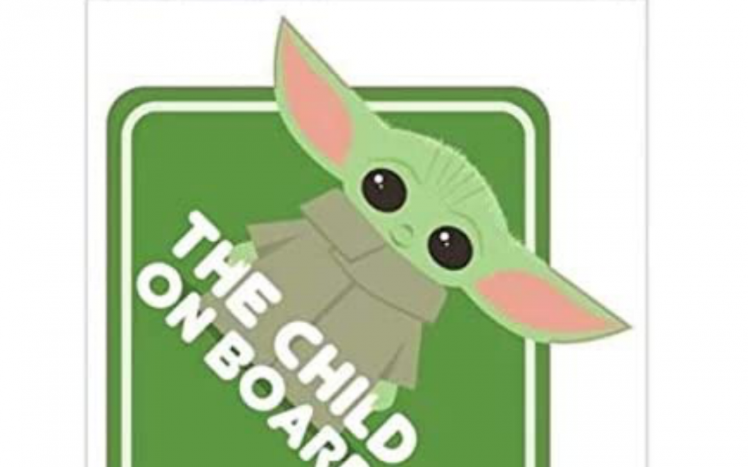 New The Mandalorian The Child On Board Green Window Decal available!