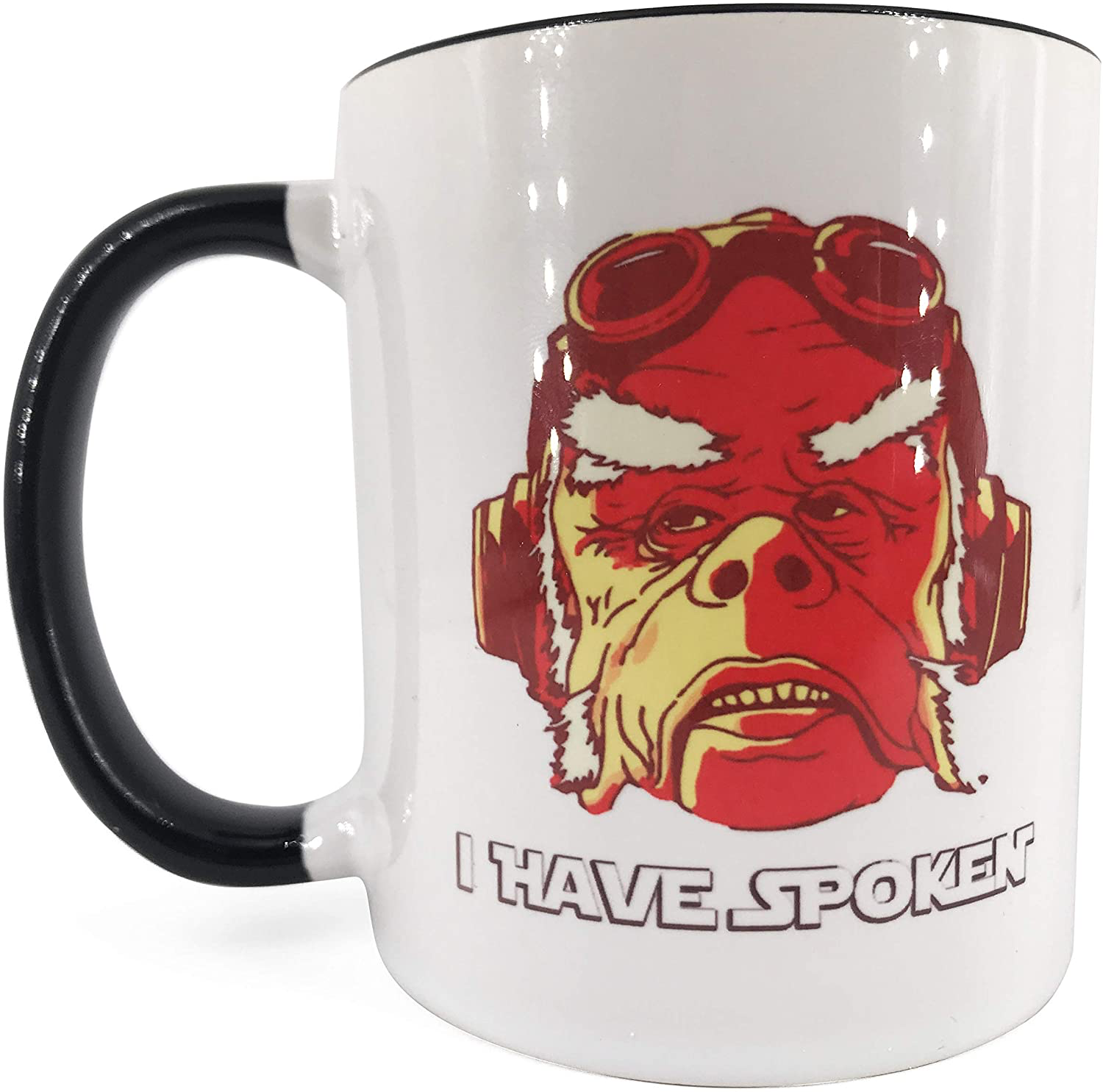 "TM ""I HAVE SPOKEN"" White Ceramic Mug 1"