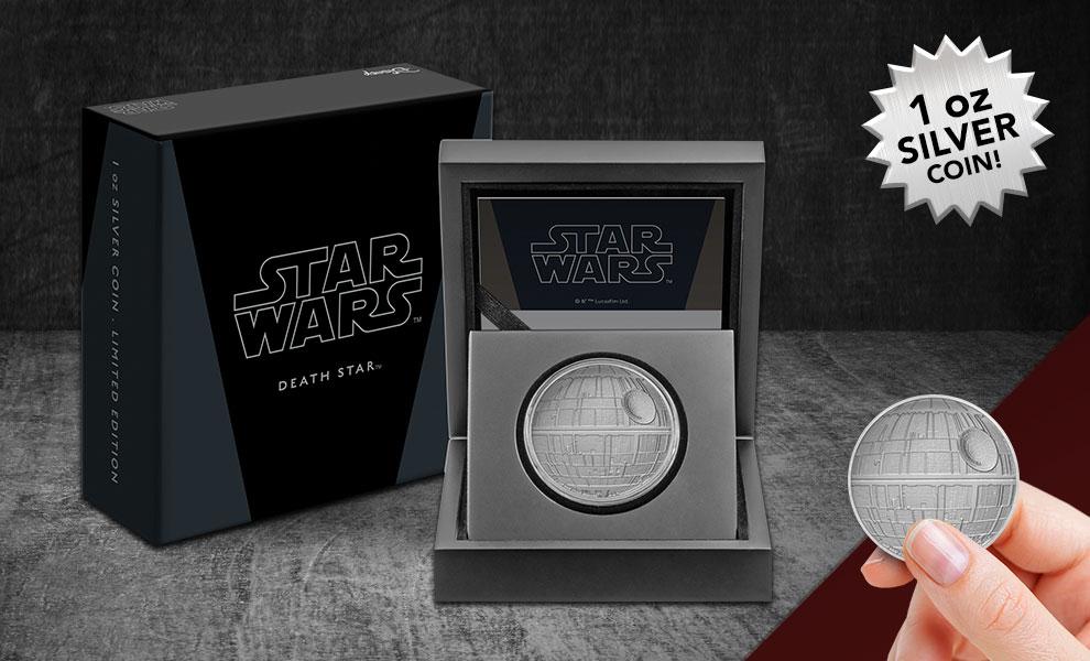 SW Death Star Silver Coin 1