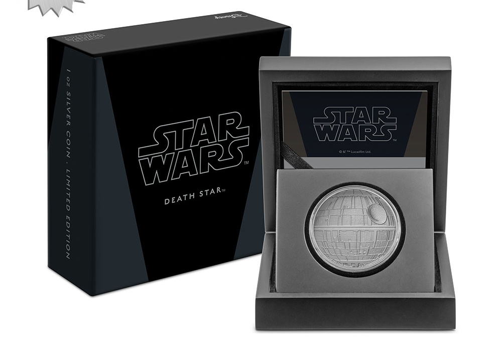 New Star Wars Death Star Silver Coin available for pre-order!