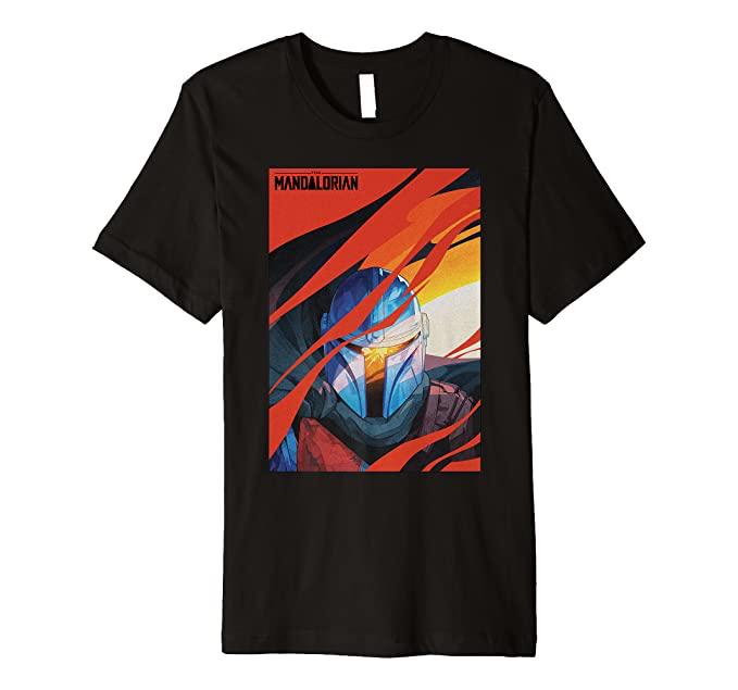 New The Mandalorian Mando Mural Premium T-Shirt available now!