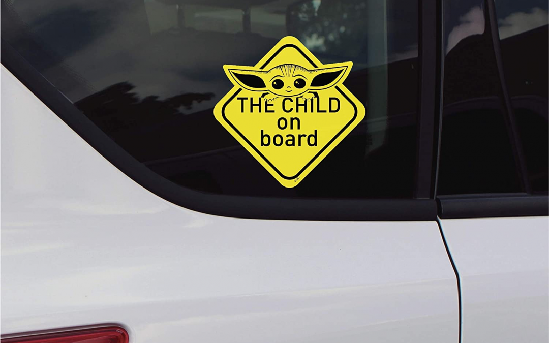 New The Mandalorian The Child ON Board Decal Sticker available!