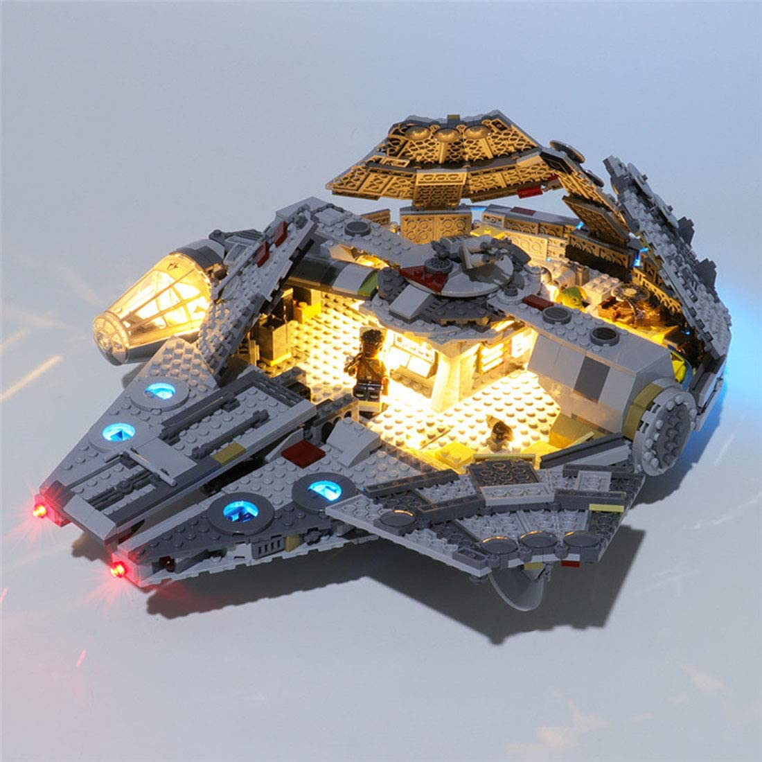 TROS Millennium Falcon LED Light Lego set 3
