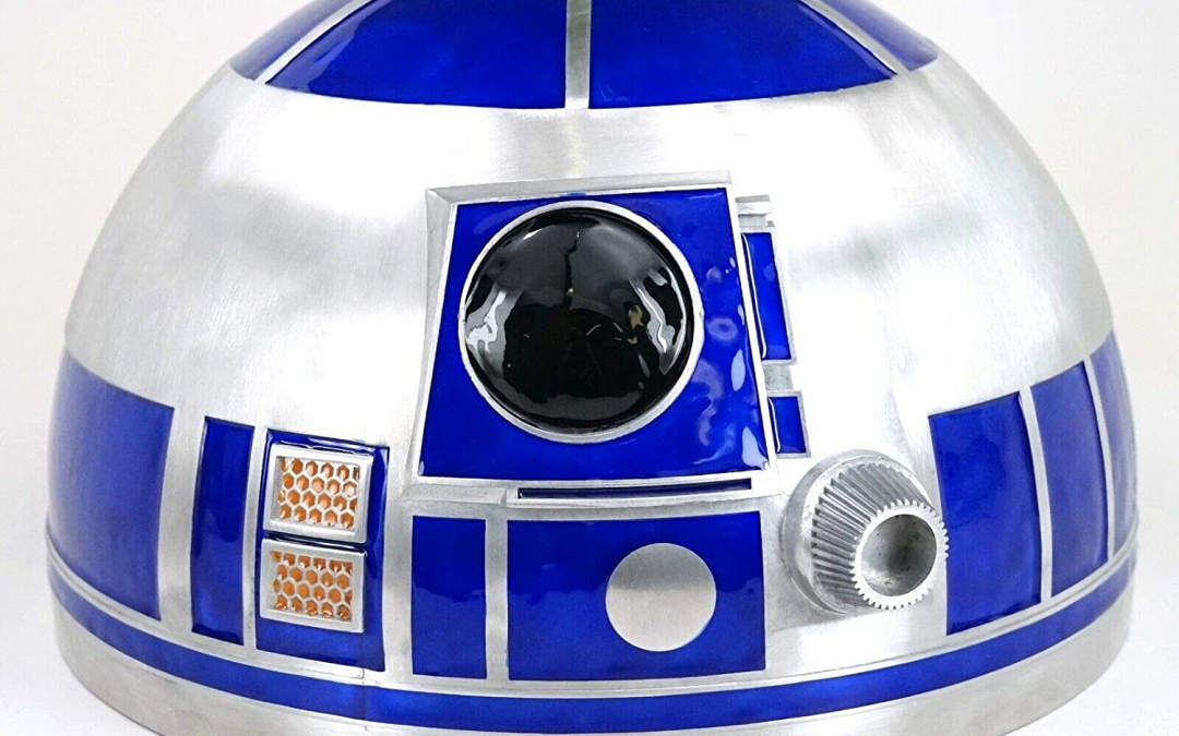 """New Galaxy's Edge R2-D2 Droid Head 10"""" Metal Serving Bowl available!"""