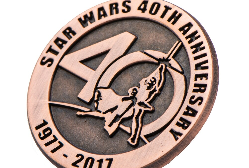 New Star Wars 40th Anniversary Collectible Bronze Pin available now!