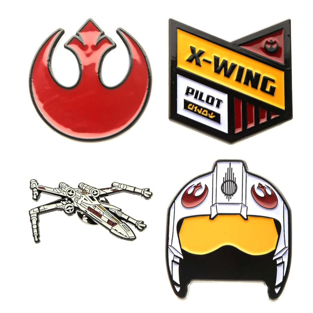 SW Rebel Alliance Enamel Pins 4-Pack 2