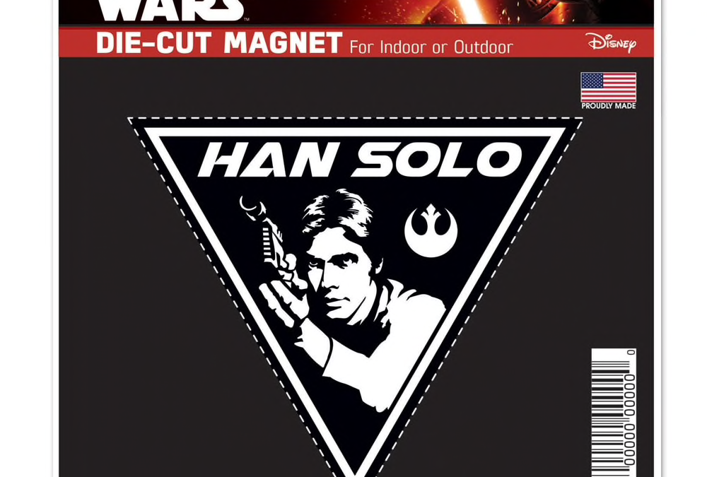 New Star Wars Han Solo Die Cut Magnet available now!
