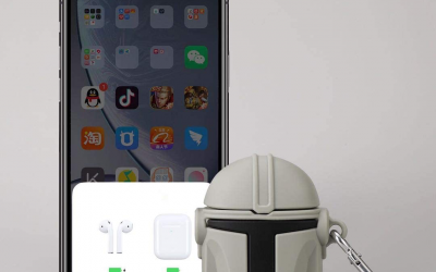 New The Mandalorian Mando's Helmet Airpods Case available now!