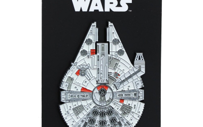 New Star Wars Millennium Falcon Large Enamel Pin available now!