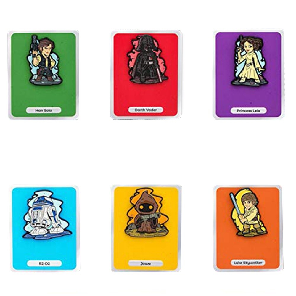 SW Art Design Enamel Character Collector Pin Set