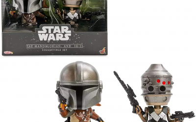 New The Mandalorian Mando and IG-11 Cosbaby Bobble Head Toy 2-Pack available!