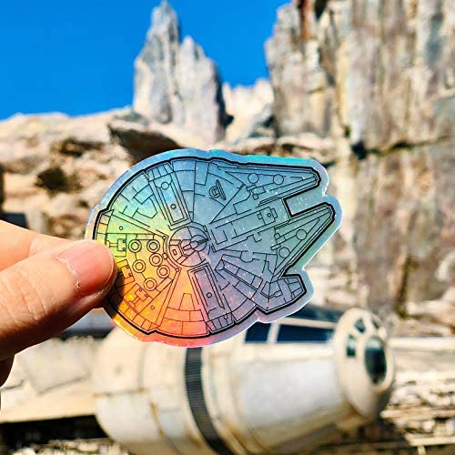 New Galaxy's Edge Millennium Falcon Holographic Laptop Sticker available now!