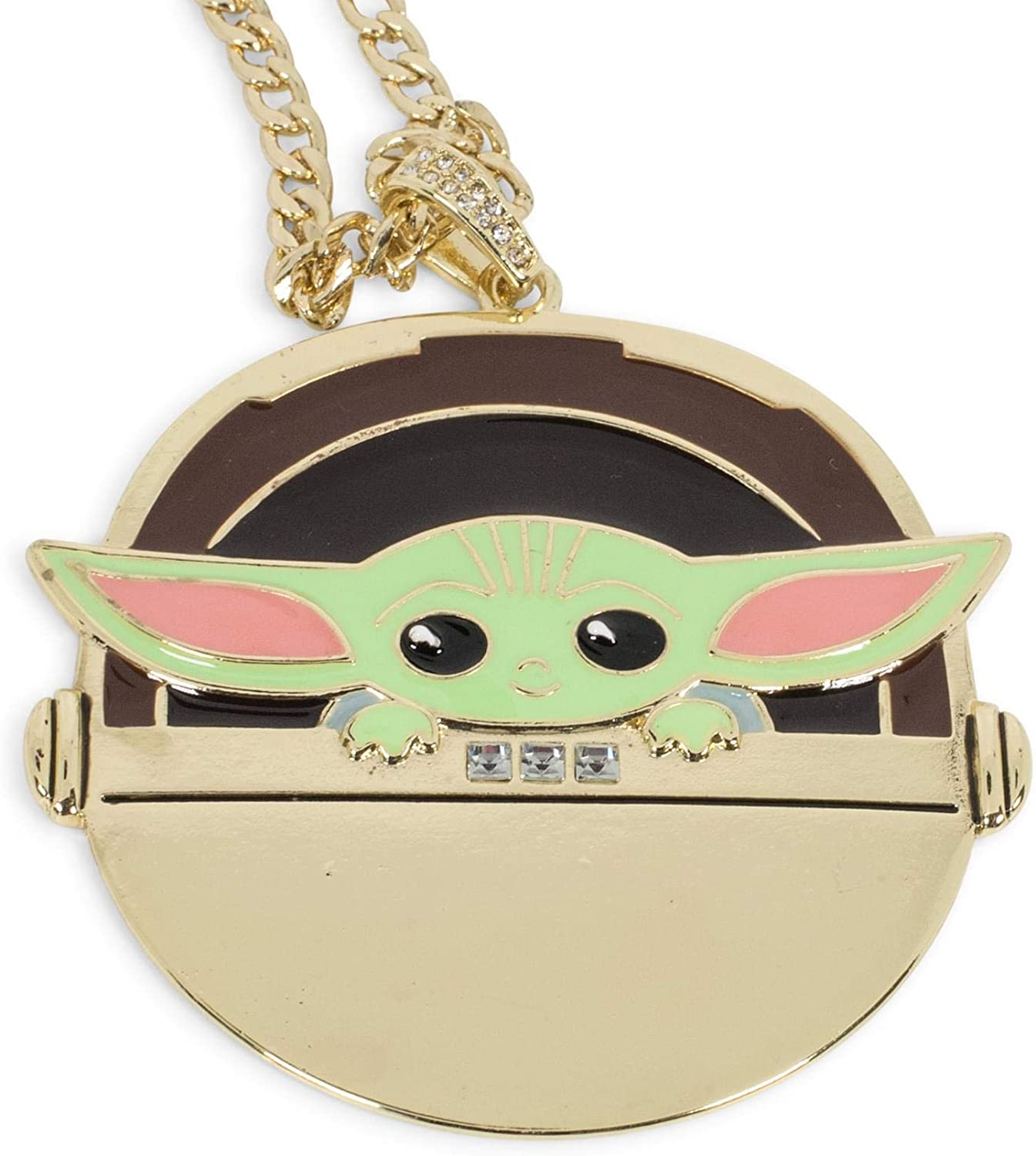TM The Child in Gold Carriage Pendant Necklace 2