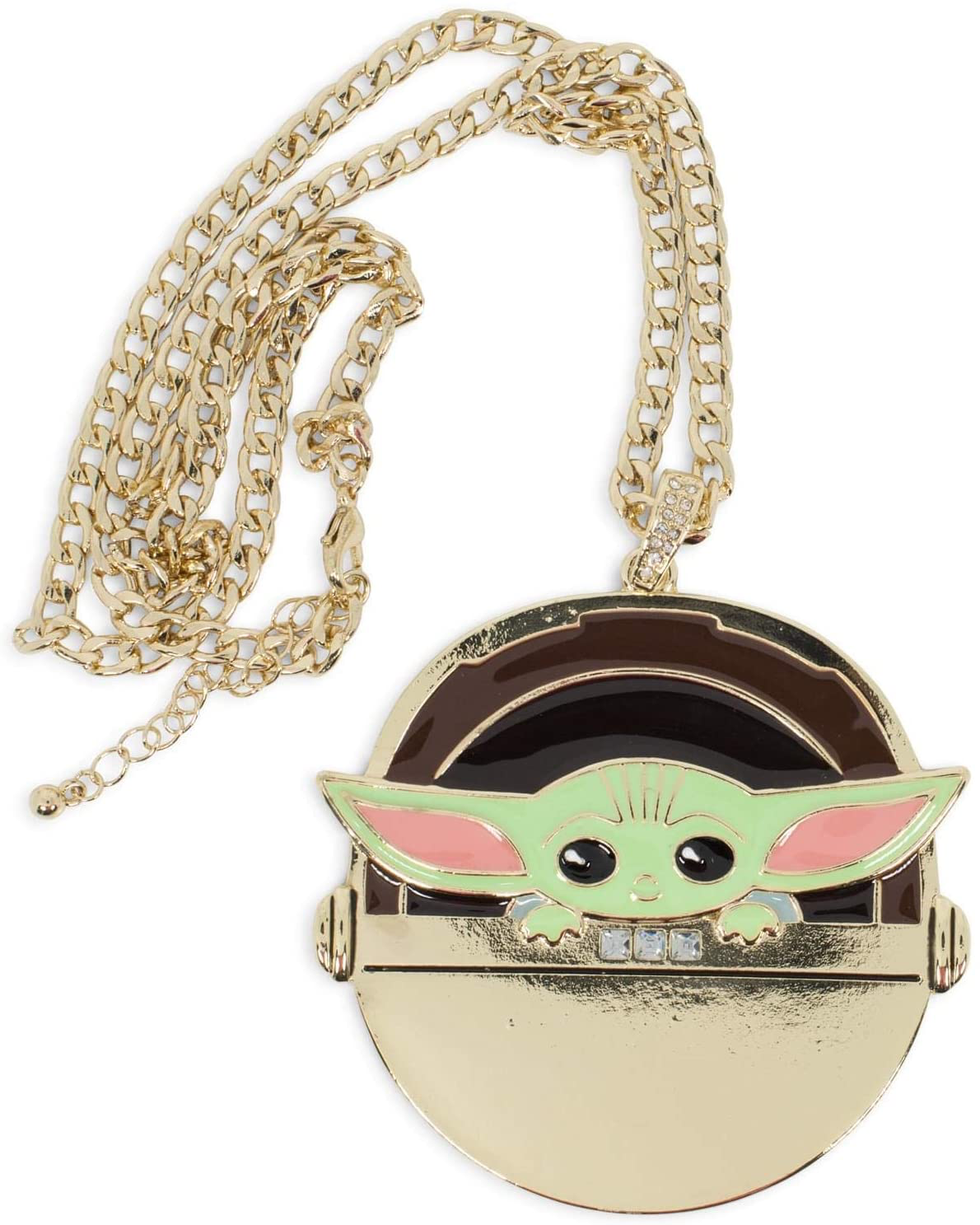 TM The Child in Gold Carriage Pendant Necklace 3