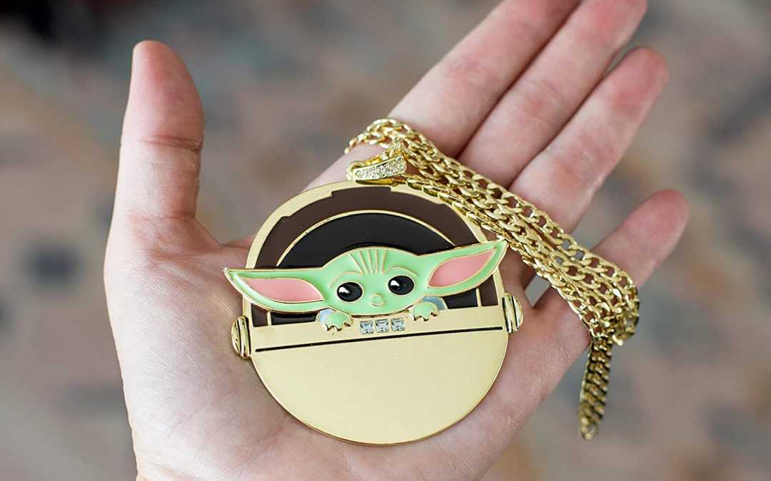 New The Mandalorian The Child in Gold Carriage Pendant Necklace available!