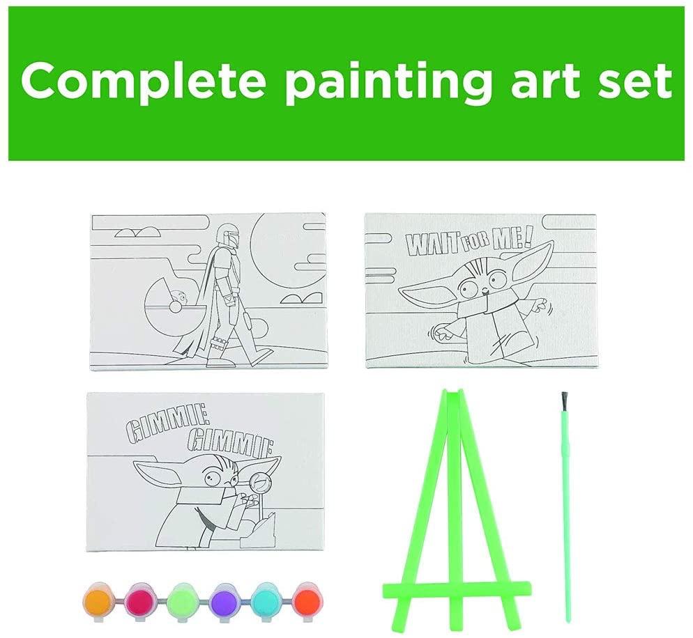 TM The Child Kids Canvas Painting Activity Art Craft Set 3