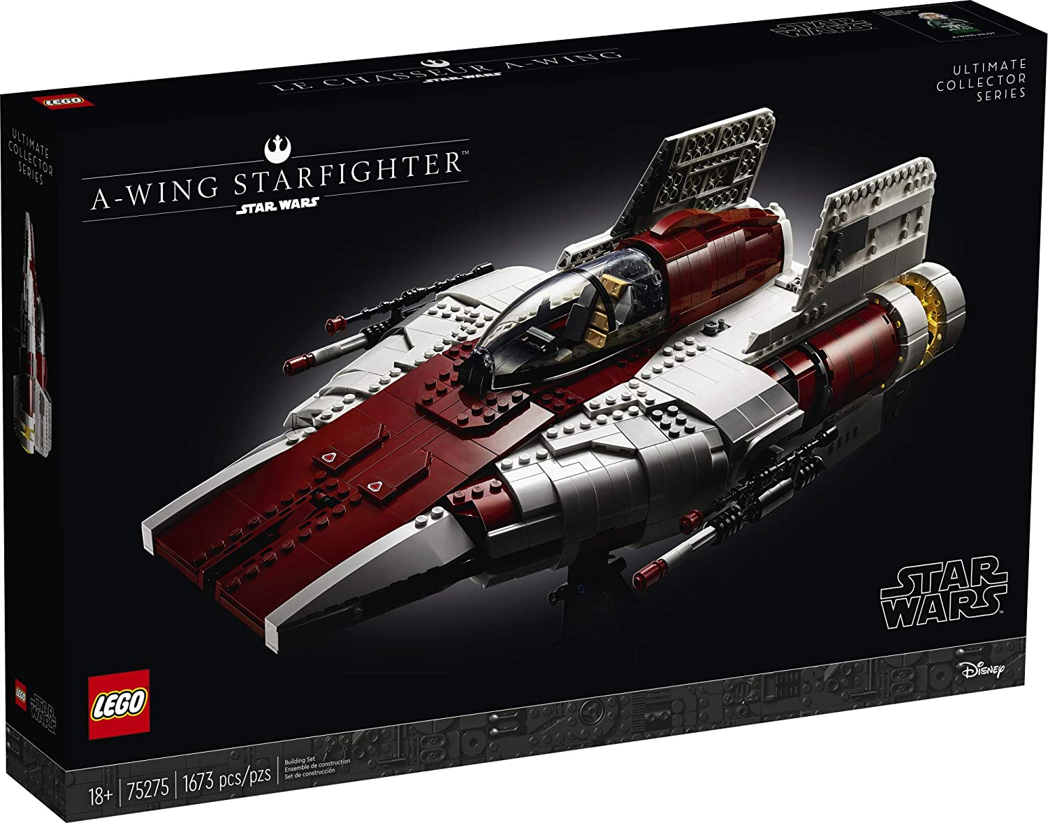 ROTJ A-Wing Starfighter Lego Set 1