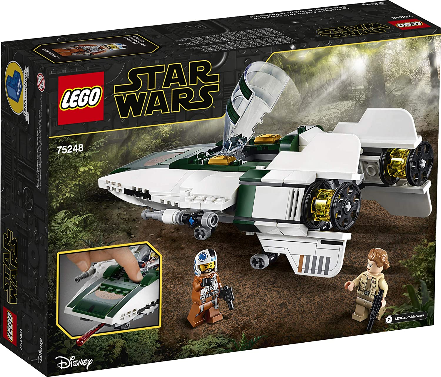 TROS Resistance A-Wing Fighter Lego Set 2