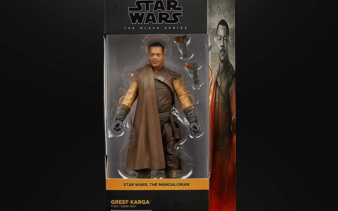 New The Mandalorian Greef Karga Black Series Figure available!