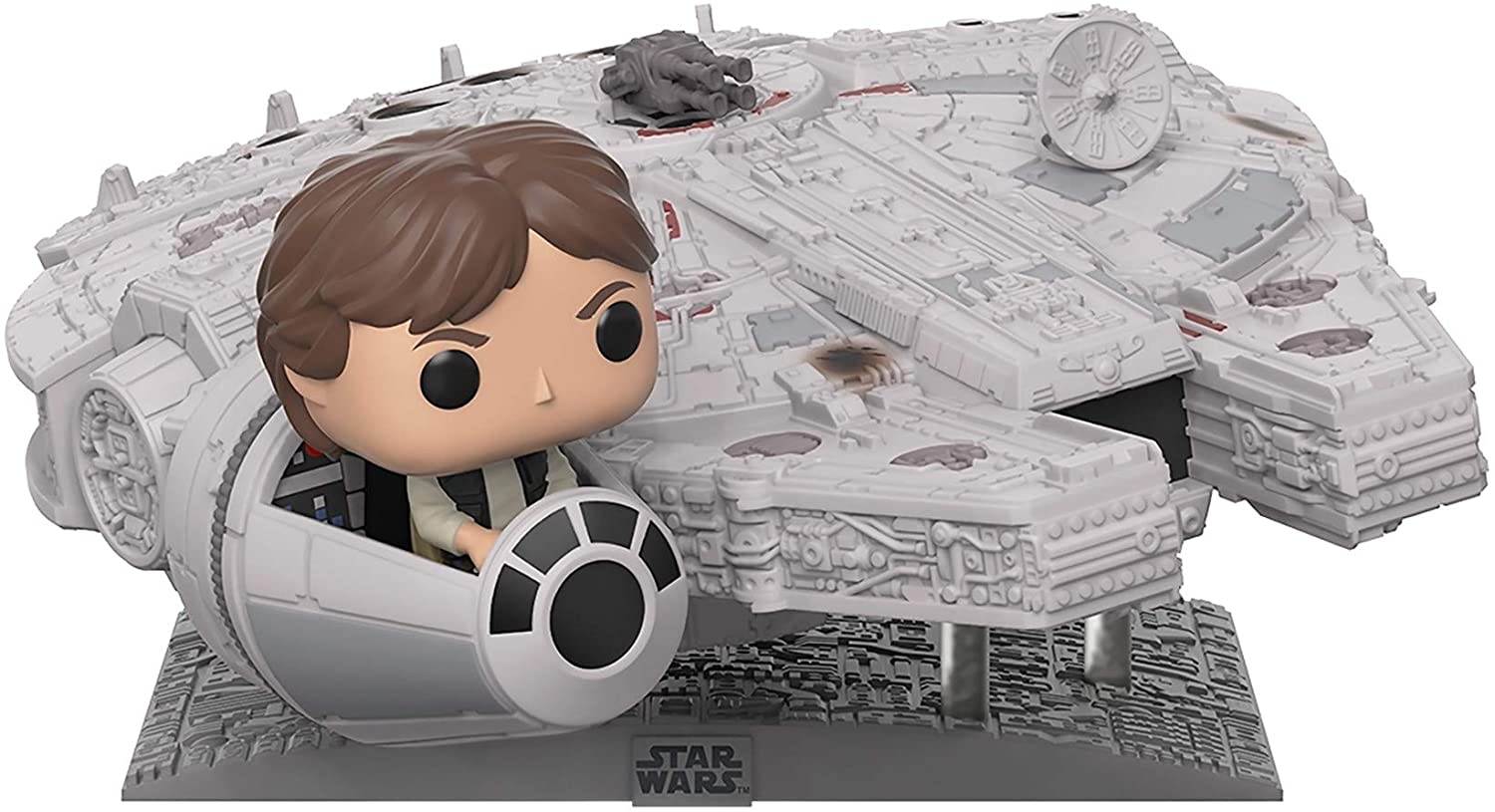 SW Millennium Falcon with Han Solo FP BH Toy 1