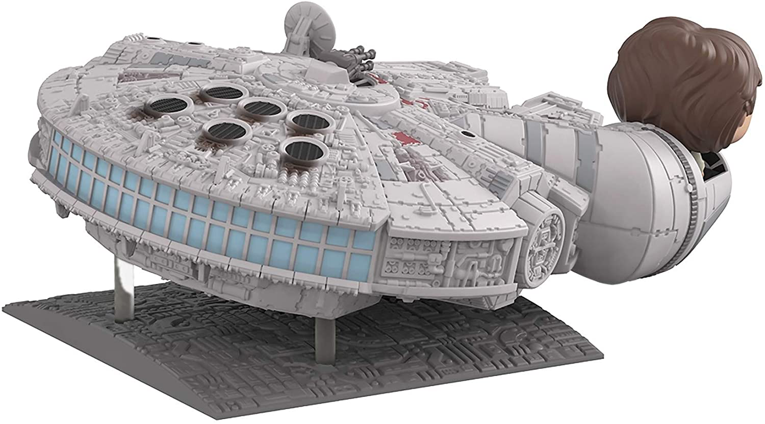 SW Millennium Falcon with Han Solo FP BH Toy 3
