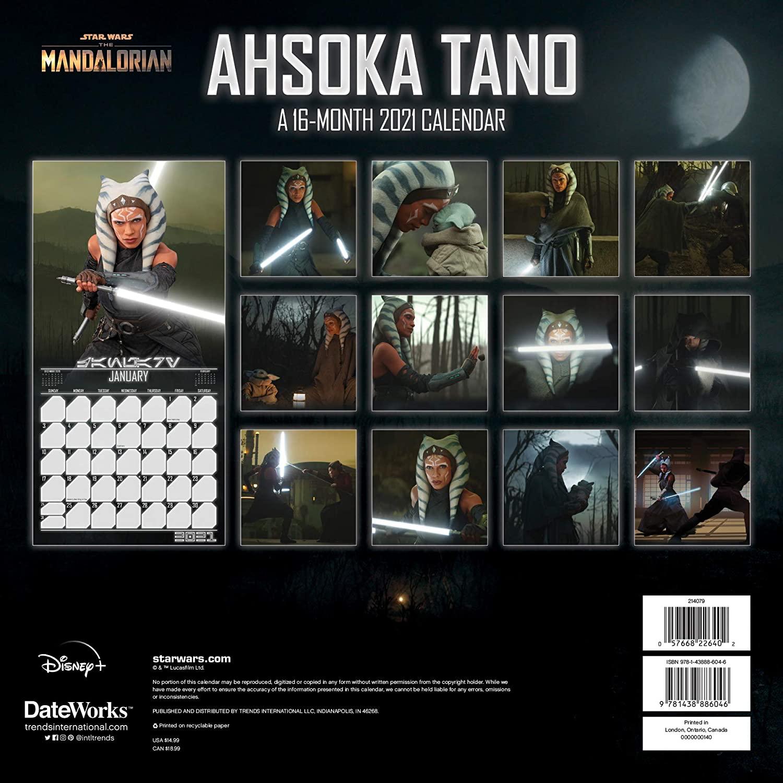 TM Ahsoka Tano 2021 Wall Calendar 2