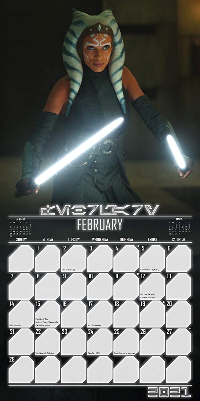 TM Ahsoka Tano 2021 Wall Calendar 4