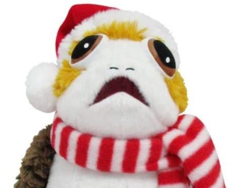 New Star Wars Porg Holiday Plush Toy available now!