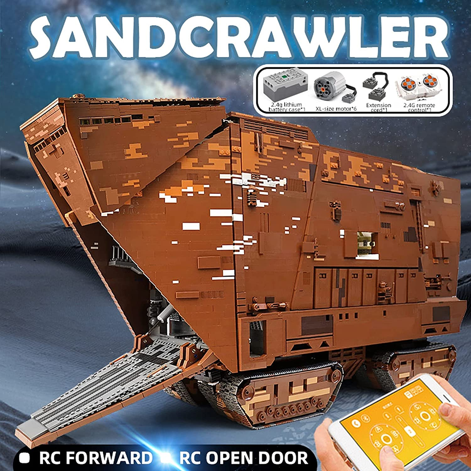 SW Sandcrawler Building Kit Lego Set 3