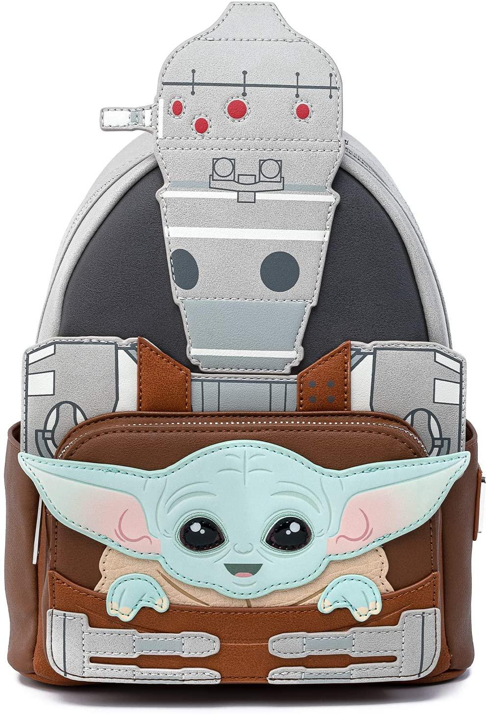TM The Child (Grogu) and IG-11 Mini Cosplay Backpack 1