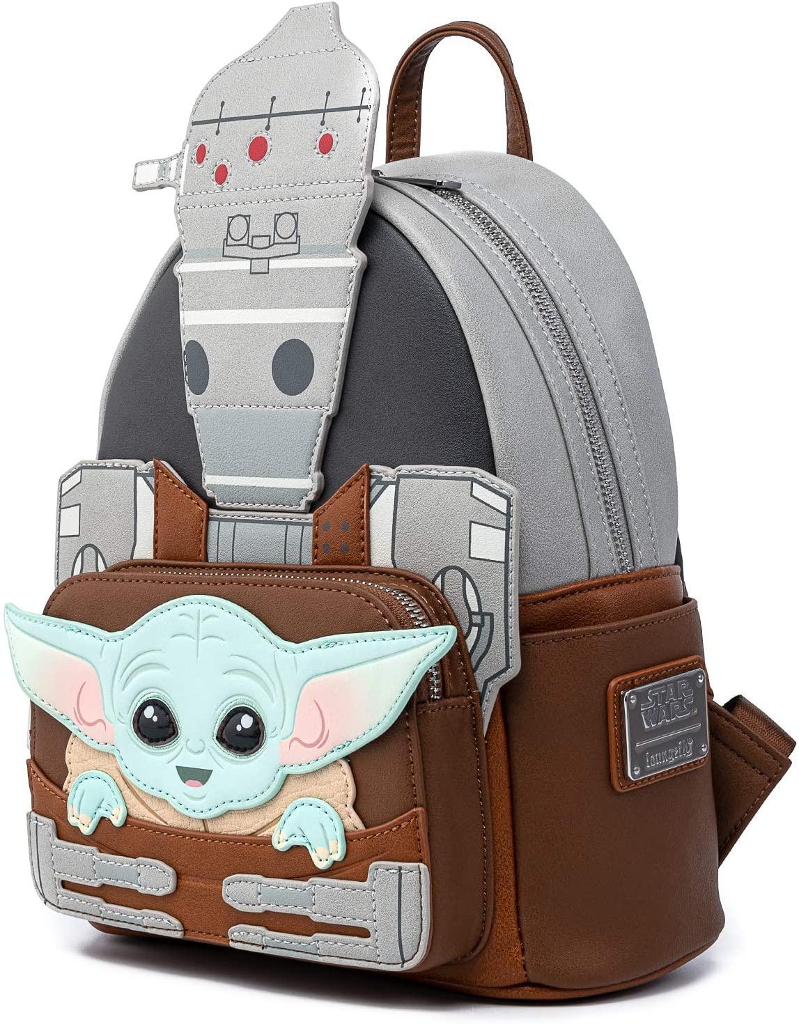 TM The Child (Grogu) and IG-11 Mini Cosplay Backpack 2