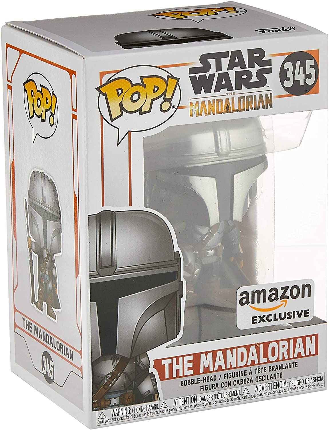 TM Mando (Din Djarin) Chrome Bobble Head Toy 1