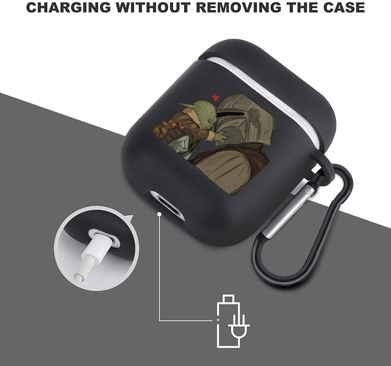 TM Mando (Din Djarin) and The Child (Grogu) Keychain Air Pods Case 3