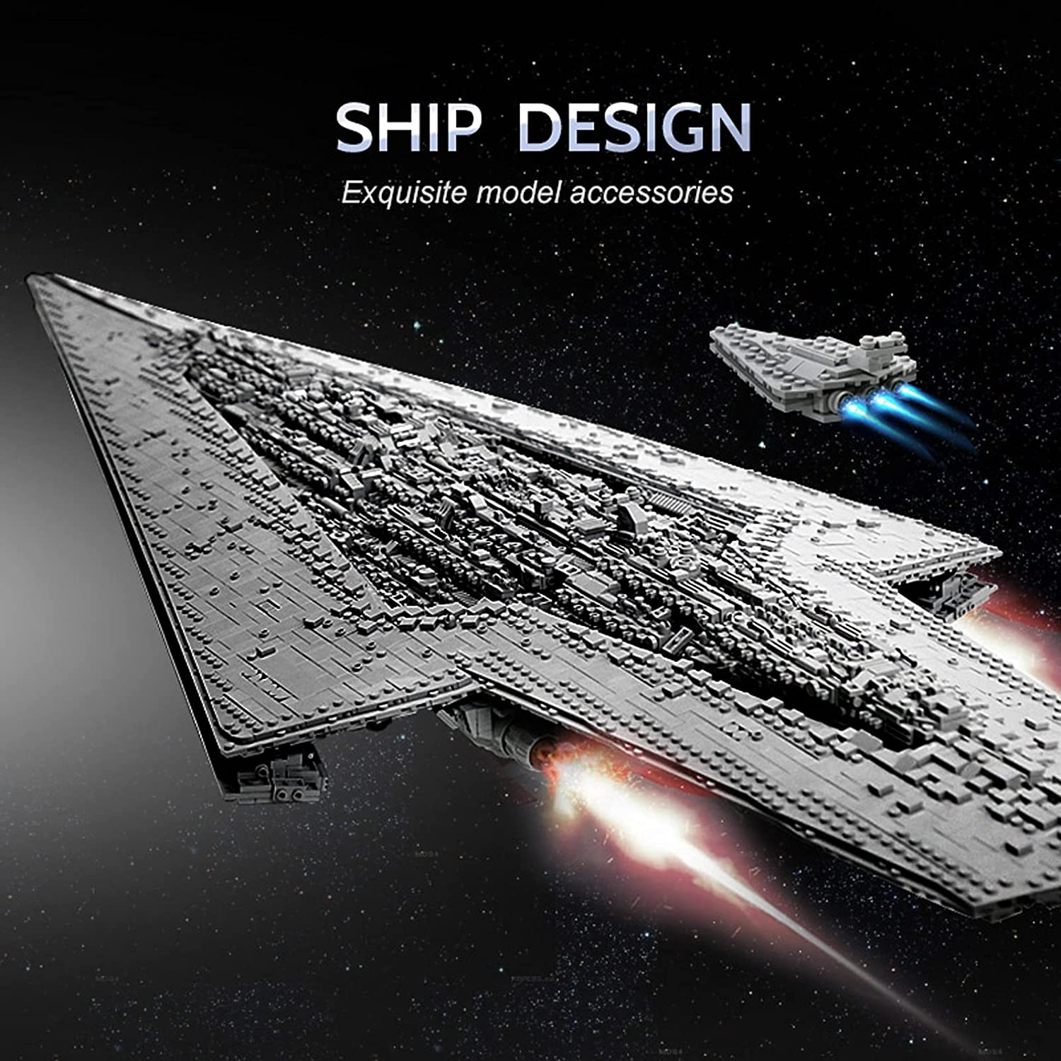 SW Executor Class Super Dreadnought Star Destroyer Lego Building Kit 4
